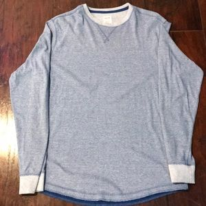 Mossimo blue crew neck lightweight sweater